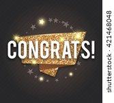 congrats. congratulations gold...   Shutterstock .eps vector #421468048
