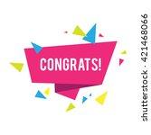 congrats. congratulations... | Shutterstock .eps vector #421468066