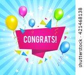 congrats. congratulations... | Shutterstock .eps vector #421468138
