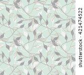 leaves seamless pattern   Shutterstock .eps vector #421474522