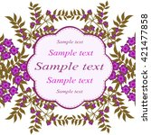 invitation or wedding card with ... | Shutterstock .eps vector #421477858