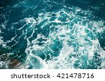 background shot of clear sea... | Shutterstock . vector #421478716