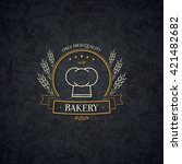vintage logotype for bakery and ... | Shutterstock .eps vector #421482682