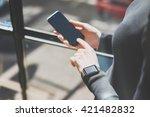 picture woman working modern... | Shutterstock . vector #421482832