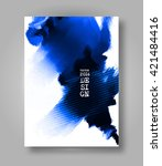 abstract stylish brochure blue... | Shutterstock .eps vector #421484416