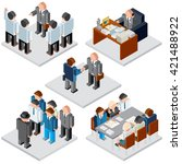 office life. business... | Shutterstock . vector #421488922