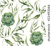 Watercolor Succulents And...