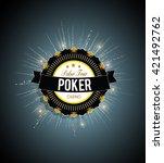 poker tour vector background | Shutterstock .eps vector #421492762
