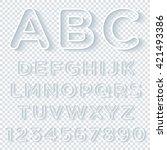 outline alphabet set with... | Shutterstock .eps vector #421493386