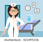 vector illustration of cheerful ... | Shutterstock .eps vector #421495156