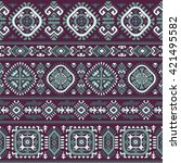 vector tribal mexican vintage... | Shutterstock .eps vector #421495582