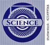 science emblem with jean high... | Shutterstock .eps vector #421499566