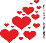 design of hearts | Shutterstock .eps vector #421510795