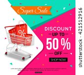 super sale banner design for... | Shutterstock .eps vector #421512916