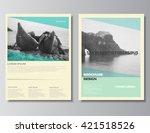 brochure template. brochure... | Shutterstock .eps vector #421518526