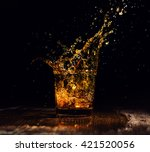 isolated shot of whiskey with... | Shutterstock . vector #421520056