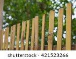 bamboo fences  | Shutterstock . vector #421523266