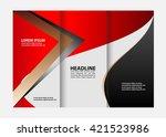 three fold business brochure... | Shutterstock .eps vector #421523986
