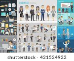 business people set. vector... | Shutterstock .eps vector #421524922