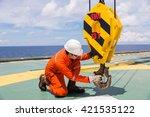 crane inspector  crane...   Shutterstock . vector #421535122
