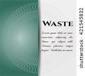waste poster | Shutterstock .eps vector #421545832