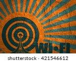 wi fi network  symbol . mobile... | Shutterstock . vector #421546612