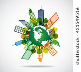 planet city pictograph icon | Shutterstock .eps vector #421549516