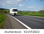 asphalt road meander trough the ... | Shutterstock . vector #421552822