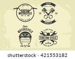 set of motorcycle badge | Shutterstock .eps vector #421553182