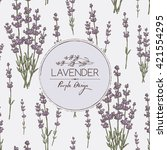 background with lavender. hand... | Shutterstock .eps vector #421554295