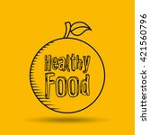 healthy food design  | Shutterstock .eps vector #421560796