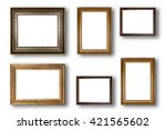 set of picture frame. photo art ... | Shutterstock . vector #421565602