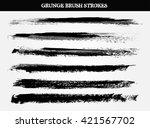 set of paint brush strokes... | Shutterstock .eps vector #421567702