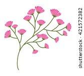 flower design. garden concept.... | Shutterstock .eps vector #421572382