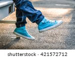 children's shoes. stylish... | Shutterstock . vector #421572712