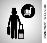 hotel design. travel icon.... | Shutterstock .eps vector #421572808