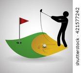 golf design. sport icon.... | Shutterstock .eps vector #421577242