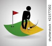 golf design. sport icon.... | Shutterstock .eps vector #421577302