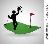 golf design. sport icon.... | Shutterstock .eps vector #421577572