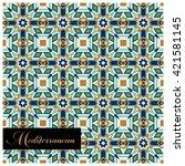 classic mediterranean inspired...   Shutterstock .eps vector #421581145