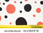 colorful wall concrete...   Shutterstock . vector #421585978