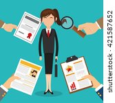 human resources design. people... | Shutterstock .eps vector #421587652