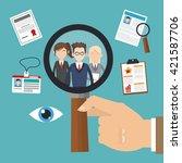 human resources design. people... | Shutterstock .eps vector #421587706
