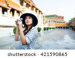 photographer travel sightseeing ... | Shutterstock . vector #421590865
