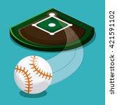baseball design. sport concept. ... | Shutterstock .eps vector #421591102