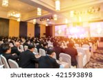 blur of business conference and ... | Shutterstock . vector #421593898