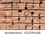 firewood stacked up in a pile... | Shutterstock . vector #421594168