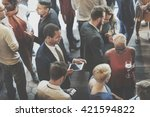 colleagues buffet party brunch... | Shutterstock . vector #421594822