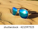 sunglasses on the sand   summer ...