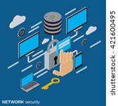 network security  data... | Shutterstock .eps vector #421600495